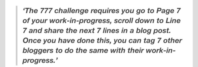 777 Writing Challenge