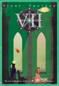 FFVII Minimalist Poster Web