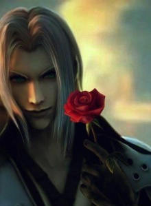 Sephiroth with a Rose for the Dead