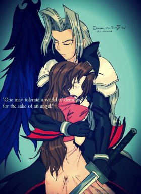 Sephiroth and Aeris For the Sake of an Angel