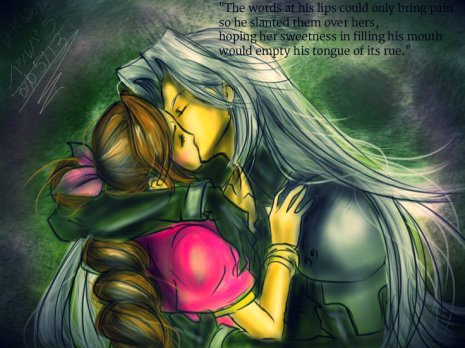 Sephiroth Kissing Aeris - Sweetness and Rue