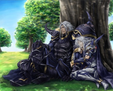 Cecil Leaning on Golbez