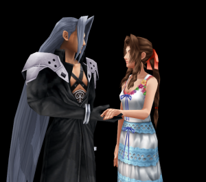 Sephiroth and Aeris