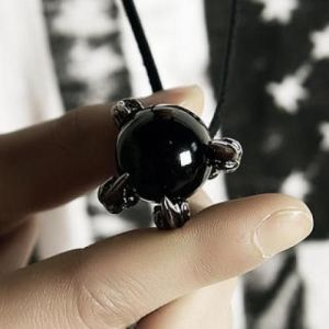 Black Orb Necklace