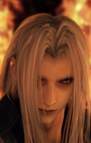Sephiroth Close Up in the Flames