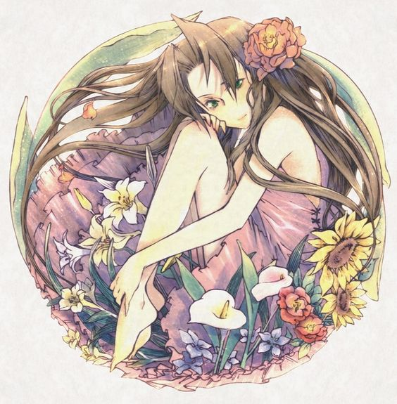 Aeris Among Flowers