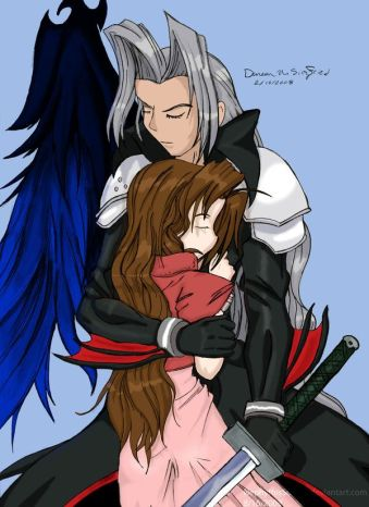 Aerith and Sephiroth - Colored by NephythisSorrow