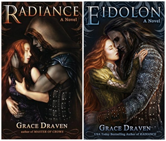 The covers of Radiance and Eidolon by Grace Draven