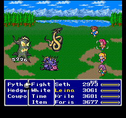 Final Fantasy V Battle Screen