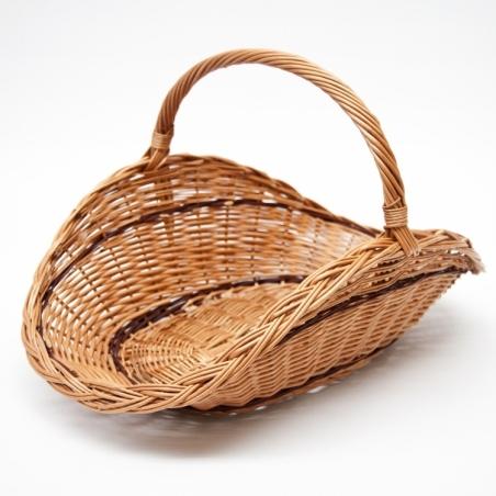 Curved wicker basket